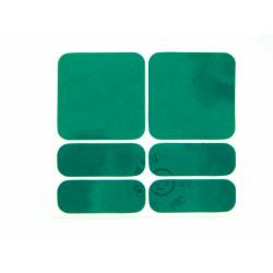 samolepky reflexní ShamanRacing set 6ks zelené