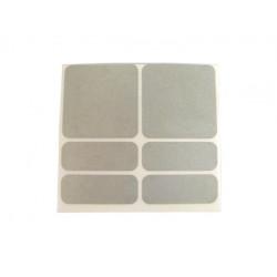 samolepky reflexní ShamanRacing set 6ks stříbrné