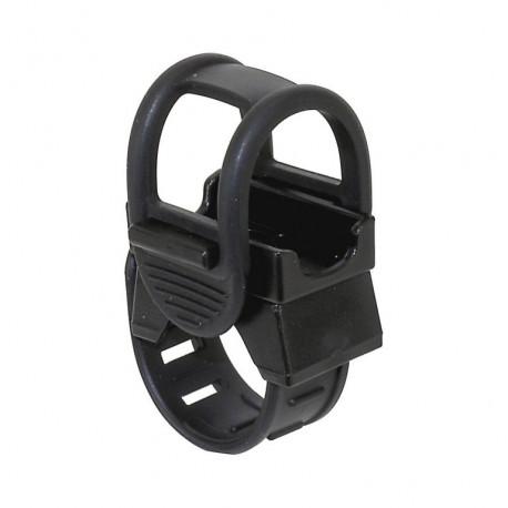 držák  univerzální - objímka+gumový upínač pro světla, mobilní telefony....
