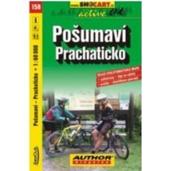 mapa cyklo Pošumaví,Prachaticko,158