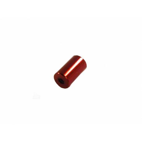 koncovka bowdenu 5.0mm Alhonga CNC červená 20ks