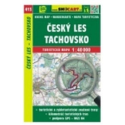 mapa cyklo-turistická Český les,Tachovsko,SH413
