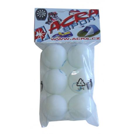míčky stolní tenis 6ks 40mm