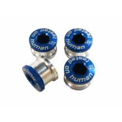 šrouby do převodníku ShamanRacing 5mm, 4ks modré