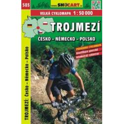 mapa cyklo-turistická Trojmezí CZ-D-PL, SH503
