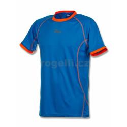 triko krátké pánské Rogelli TORREY modro/oranžové