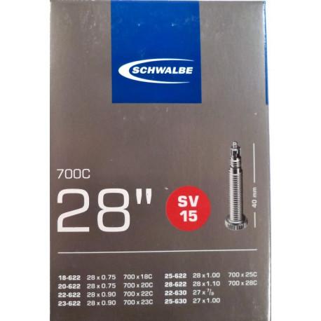 """duše SCHWALBE SV15 28""""x 3/4-1.10 (18/28-622) FV/40mm"""
