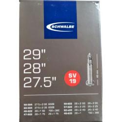 """duše SCHWALBE SV19  27.5""""x2.00-28""""x1 1/2 (50-584/40-635) FV/40mm"""