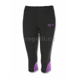 kalhoty 3/4 dámské Rogelli SUEZ černo/fialové