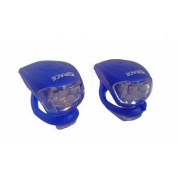 blikačka přední+zadní 4RACE LS03 silicon modré