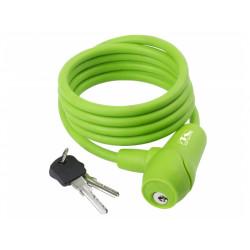 zámek  M-Wave 8x1500mm silikonový zelený