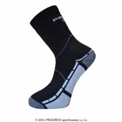 ponožky Progress TRAIL bamboo černo/šedé