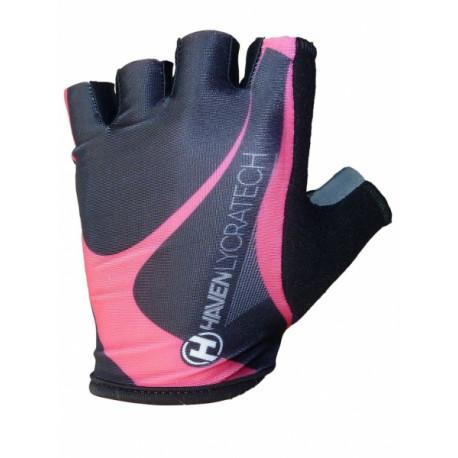 rukavice HAVEN LYCRATECH černo/růžové