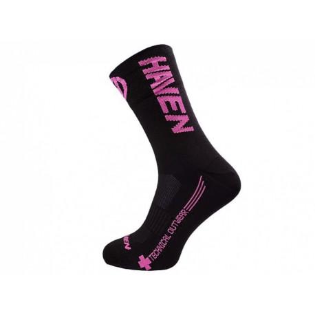 ponožky HAVEN LITE SILVER NEO LONG 2páry černo/růžové