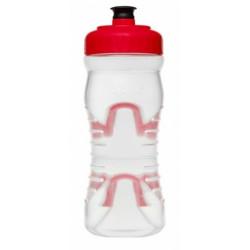 lahev FABRIC 600ml clear/červená