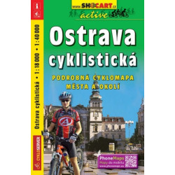 mapa cyklo Ostrava cyklistická