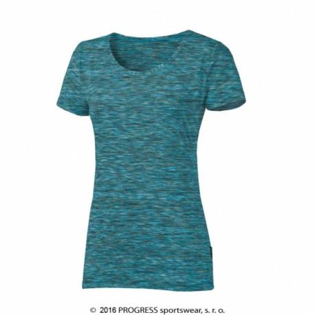 triko krátké dámské Progress MELISSA tyrkysové