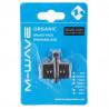 brzdové destičky M-Wave organické Shimano XT, XTR
