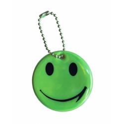 přívěšek reflexní smajlík zelený