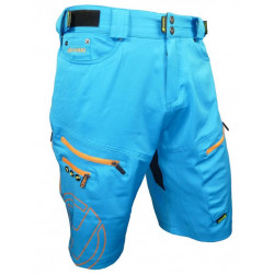 kalhoty krátké pánské HAVEN NAVAHO SLIMFIT modro/oranžové