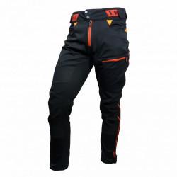 kalhoty dlouhé unisex HAVEN SINGLETRAIL LONG černo/červené