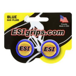 zátky řidítek ESI modré
