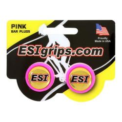 zátky řidítek ESI růžové
