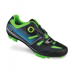 boty MTB EXUSTAR SM3136 černo/zelené