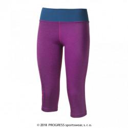 kalhoty 3/4 dámské Progress BETTY 3Q fialovo/modré