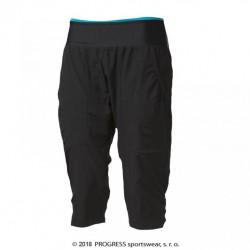 kalhoty 3/4 dámské Progress SAHARA 3Q černo/tyrkysové
