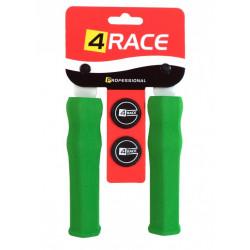 gripy 4RACE tvrzené pěnové NBR127mm zelené