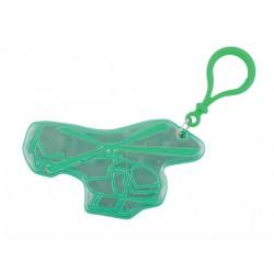 přívěšek reflexní vrtulník zelený