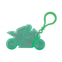 přívěšek reflexní motorka zelená