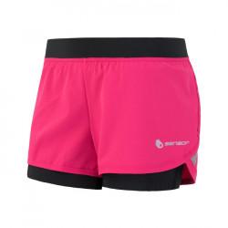 kalhoty krátké dámské SENSOR TRAIL růžovo/černé