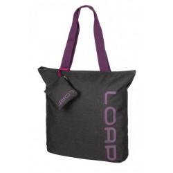 taška ladies LOAP FALNIE černo/fialová
