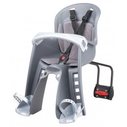 sedačka Polisport Bilbi Junior přední se zadním úchytem šedo-stříbrná