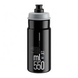 lahev ELITE Jet Black šedé logo, 550 ml