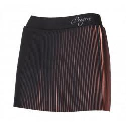 sukně dámská Progress LAMELLA+šortky černo/lososová