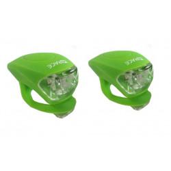 blikačka přední+zadní 4RACE LS03 silicon zelené