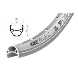 ráfek REMERX DRAGON 719 V-brake 622x19 36děr stříbrný nýt