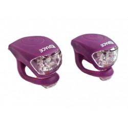 blikačka přední+zadní 4RACE LS03 silicon fialové