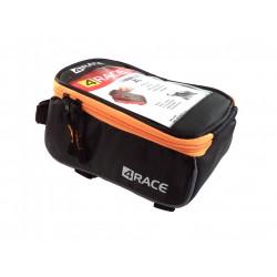 """brašna 4RACE přední na mobil XL 5,5"""" černo-oranžová"""