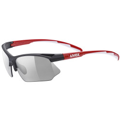 2021 UVEX BRÝLE SPORTSTYLE 802 VARIO, BLACK RED WHITE/SMOKE (2301)