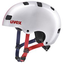 1 UVEX HELMA KID 3, RACE SILVER 51-55