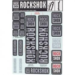 ROCKSHOX DECAL KIT 35MM WHITE