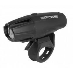 osvětlení přední FORCE SHARK 700lm USB černé