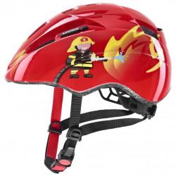 přilba dětská UVEX Kid 2 CC červená hasič 46-52