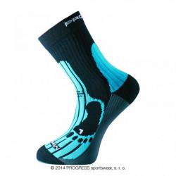 ponožky Progress MERINO turistické černo/modré