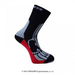 ponožky Progress MERINO turistické černo/šedé