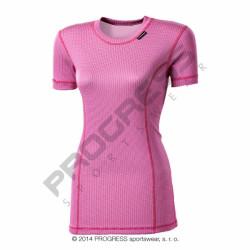 triko krátké dámské Progress MS NKRZ růžové